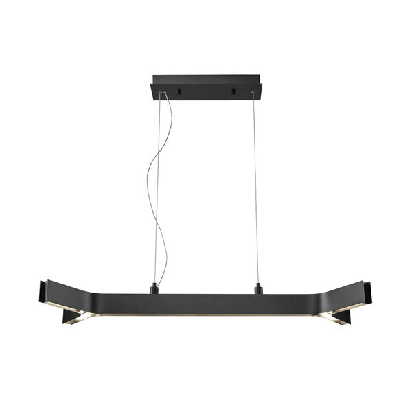 Arcano Matte Black Five-Light LED Pendant, image 2