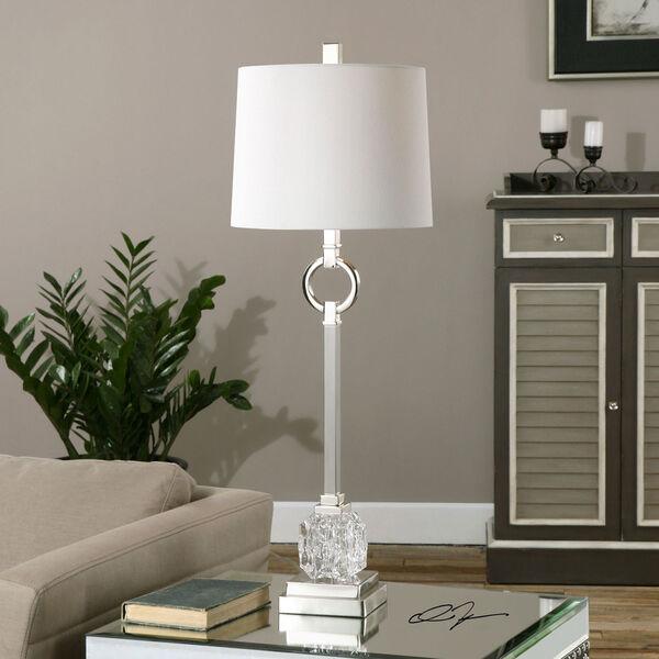 Bordolano Polished Nickel One-Light Buffet Lamp, image 2