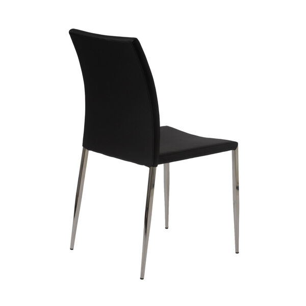 Diana Black 18-Inch Stacking Side Chair, Set of 4, image 4