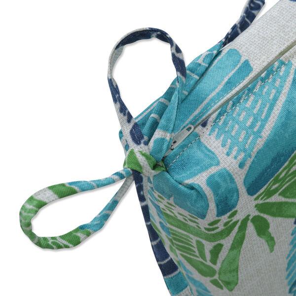 Hixon Blue Green Tan Bench Cushion, image 2