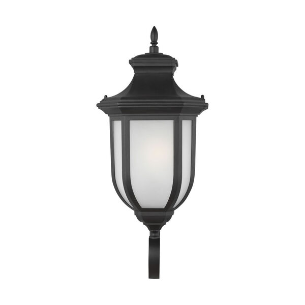 Childress Black Nine-Inch One-Light Outdoor Wall Sconce with Satin Etched Shade, image 1