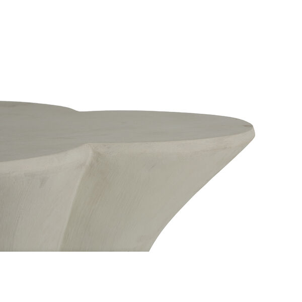 Carlin Textured Misty White End Table, image 4