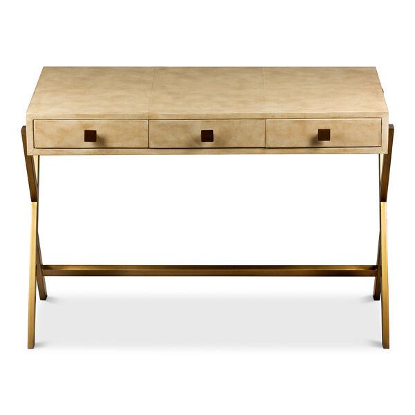 Beige Stuart Leather Desk, image 2