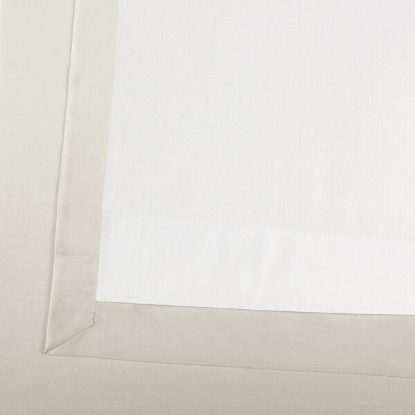 Off White Vintage Textured Faux Dupioni Silk Single Panel Curtain, 50 X 96, image 6