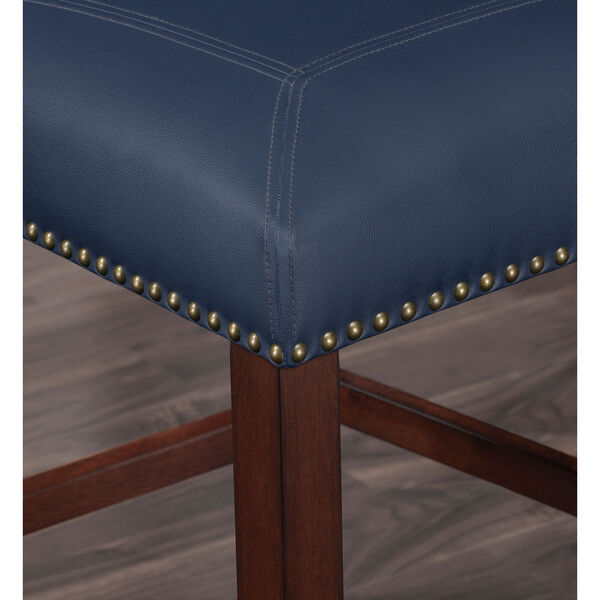 Carteret Navy Faux Leather Counter Stool, image 5