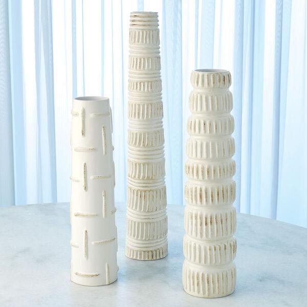 Antique White 20-Inch Totem Vase, image 3