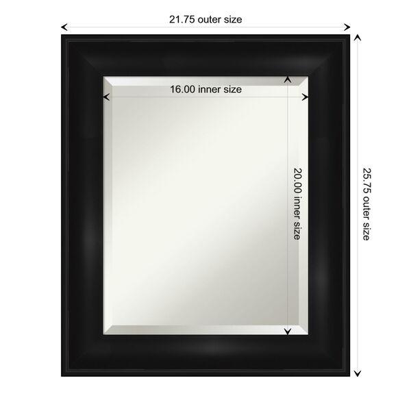 Black 22W X 26H-Inch Bathroom Vanity Wall Mirror, image 6