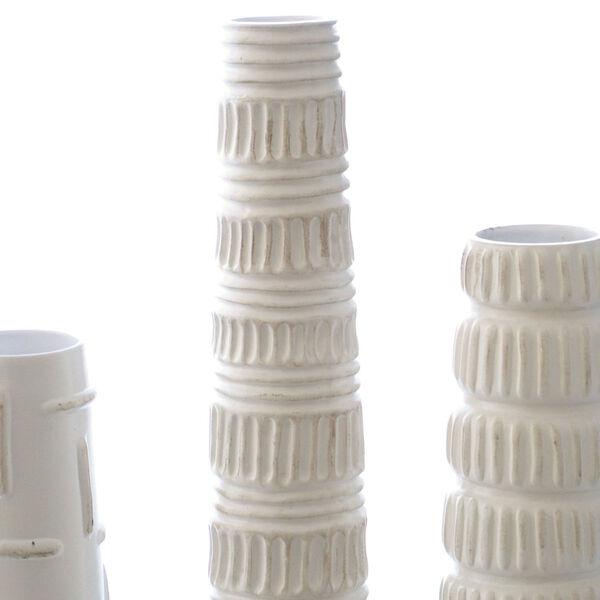 Antique White 20-Inch Totem Vase, image 6