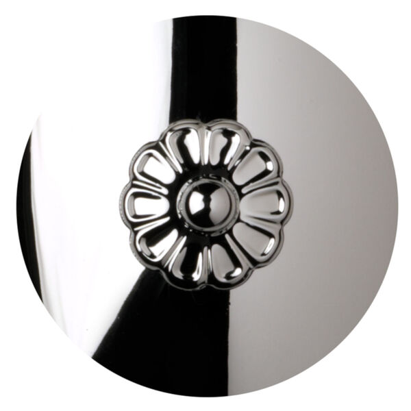 Sterling Polished Silver Two-Light Wall Sconce, image 2