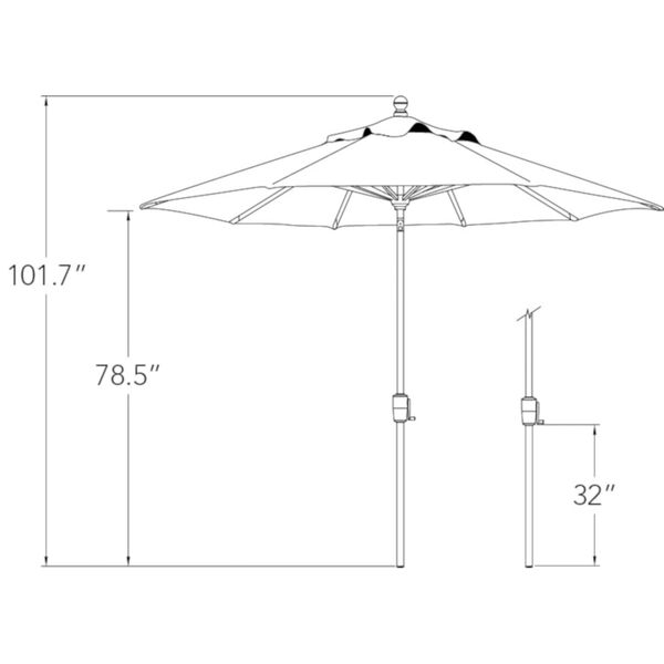 Catalina Really Red 108-Inch Market Umbrella, image 2