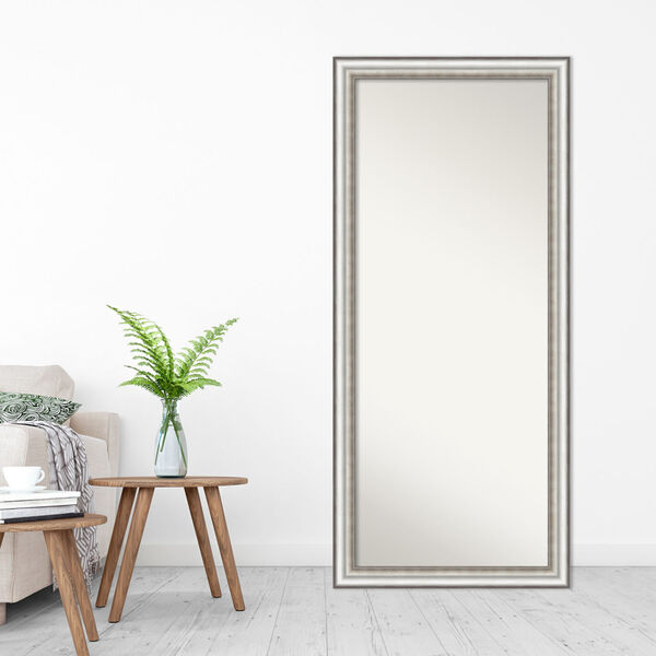 Salon Silver 29W X 65H-Inch Full Length Floor Leaner Mirror, image 3
