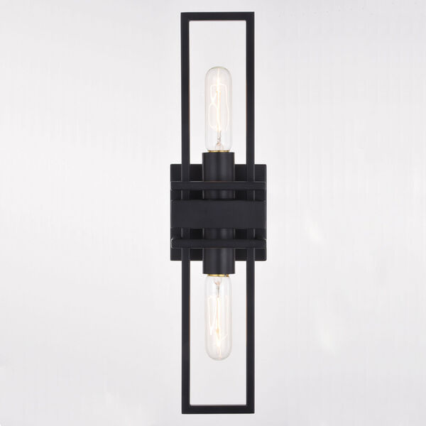 Marquis Matte Black Two-Light Wall Sconce, image 5
