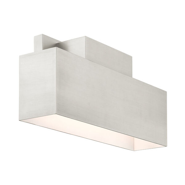 Lynx Brushed Nickel Two-Light Outdoor ADA Wall Sconce, image 5