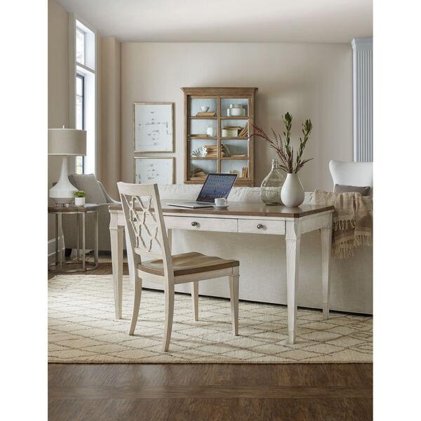 Montebello Danish White and Carob Brown Side Chair, image 4