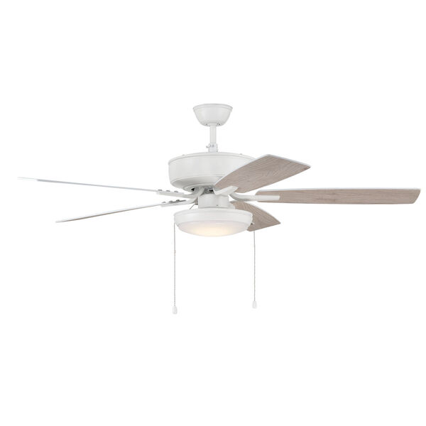 Pro Plus White 52-Inch LED Ceiling Fan with Frost Acrylic Pan Shade, image 5