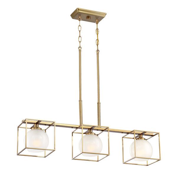 Cowen Brushed Gold Three-Light Chandelier, image 5