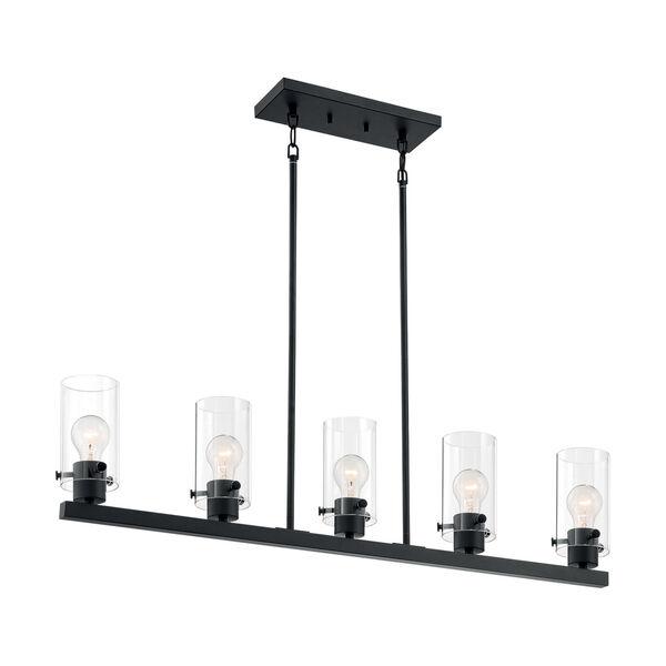 Sommerset Matte Black Five-Light Pendant, image 4