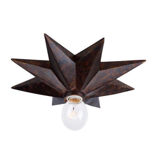 Astro English Bronze One-Light Flush Mount, image 1