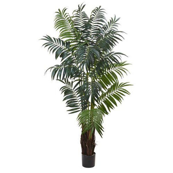 Green 7.5 Foot Bulb Areca Palm Tree, image 1