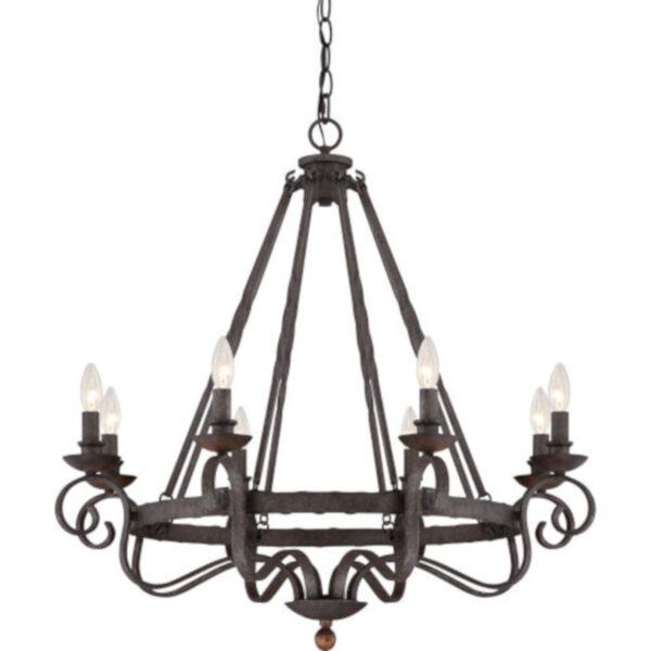 Wellington Black Eight-Light Chandelier, image 1