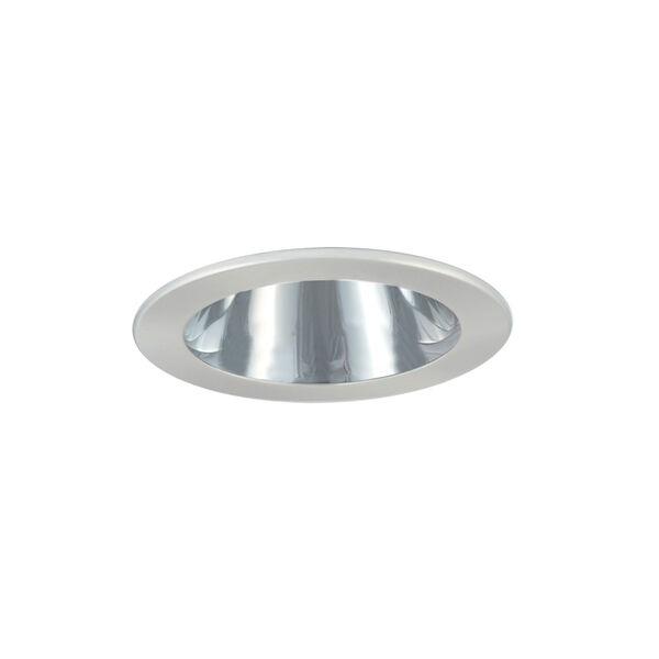 Chrome and White 3-Inch Trim with Adjustable Open Reflector, image 1