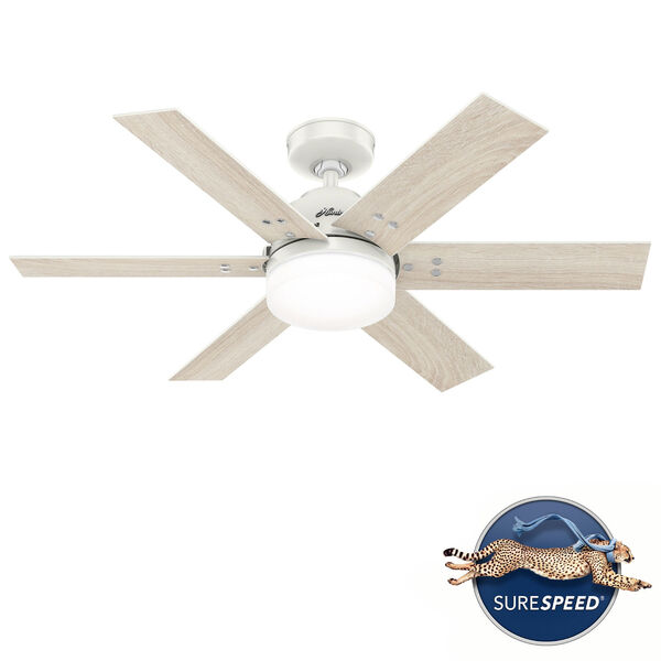 Pacer Fresh White 44-Inch Two-Light LED Ceiling Fan, image 1