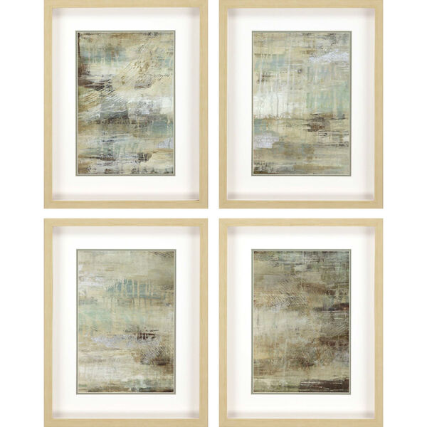 Neutral 26 H x 20 W-Inch Driftwood Panel Wall Art, Set of 4, image 2