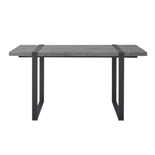 Urban Blend Gray and Black Dining Table, image 4