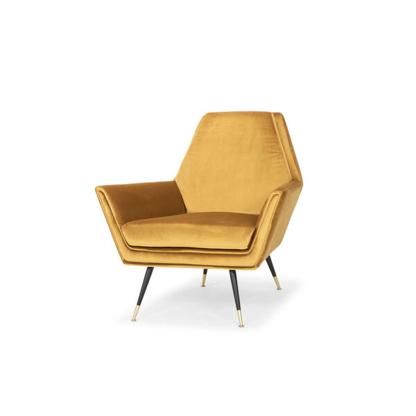 Vanessa Mustard and Black Occasional Chair, image 4