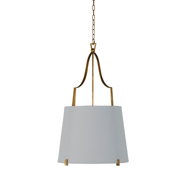 Arbella Vintage Gold and White Two-Light Pendant, image 1