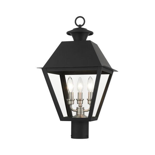 Mansfield Black Three-Light Outdoor Post Lantern, image 5