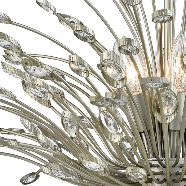 Mullica Aged Silver Six-Light Chandelier, image 2