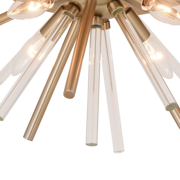 Aria Natural Brass Four-Light Flush Mount, image 4