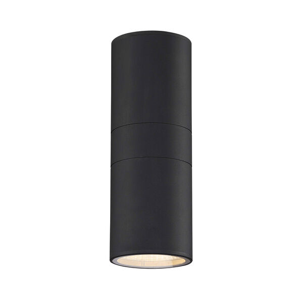 Textured Matte Black LED Outdoor Wall Sconce, image 3