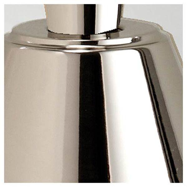 Bradford Polished Nickel One-Light Mini Pendant with White Hardback Fabric Shade, image 2