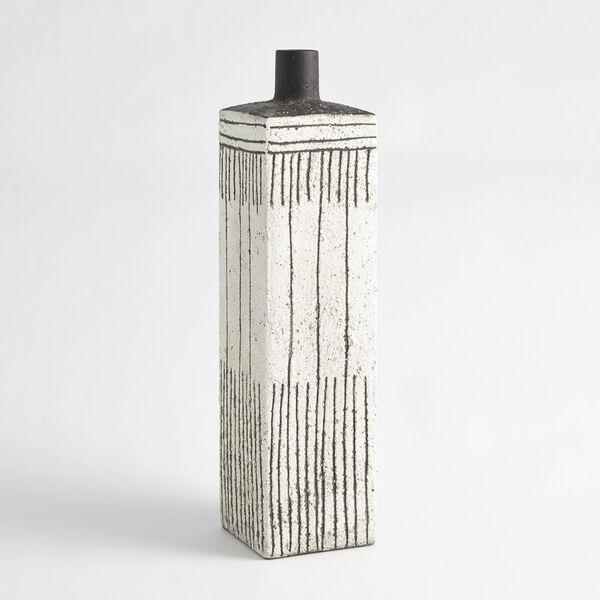 White Graffiti Square Vase, image 1