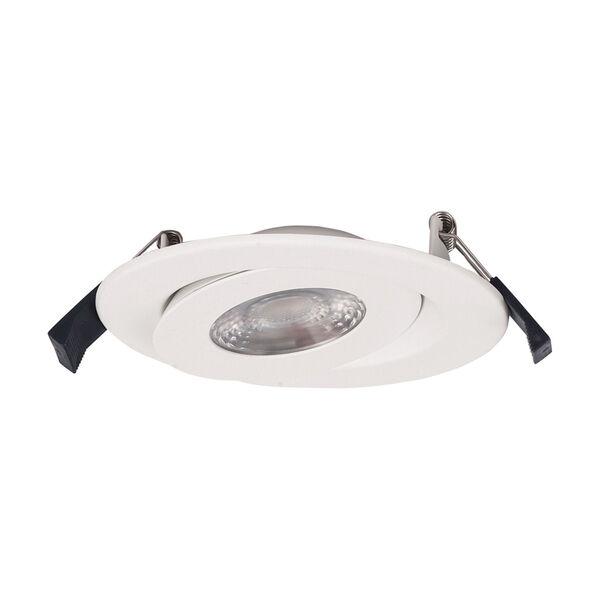 Lotos White Six-Inch LED Round Adjustable Recessed Light Kit, image 5