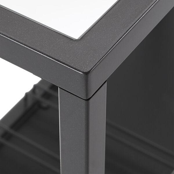 Juan Black Glass Top Metal Bar Cart, image 6
