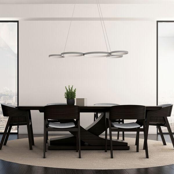 Capella Silver 31-Inch LED Adjustable Chandelier, image 5