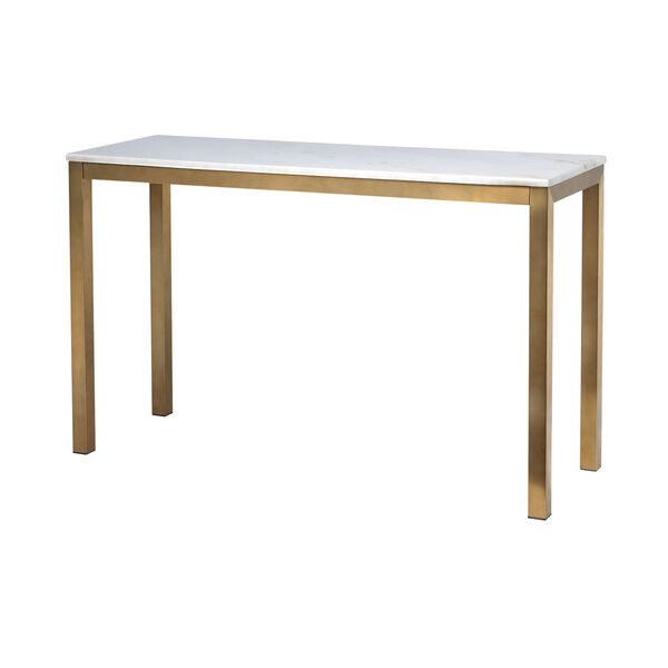 Gold Marble Top Console Table, image 1