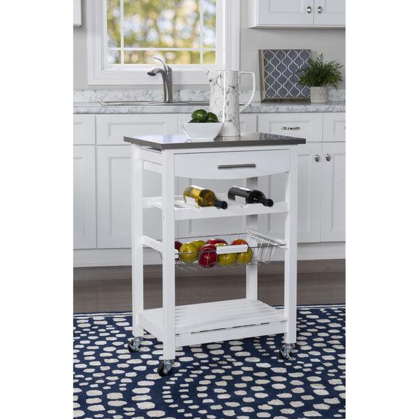 Autumn White Kitchen Cart, image 2