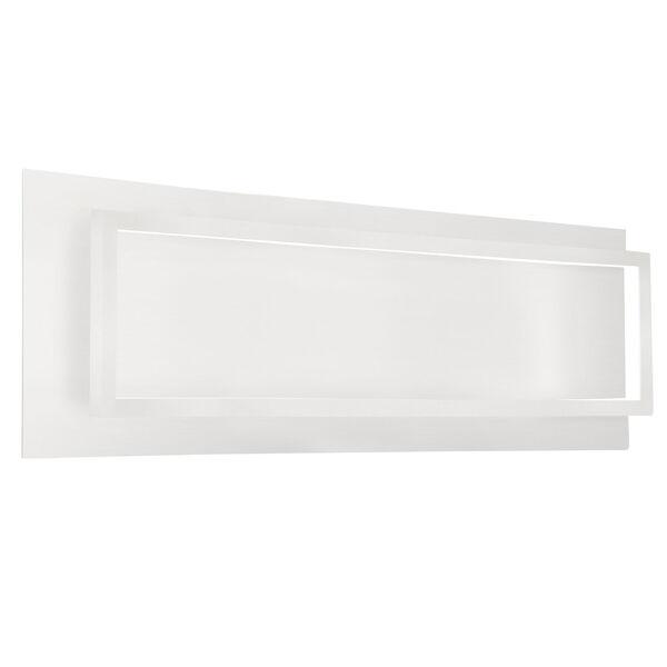Mondrian White 26-Inch One-Light LED Sconce, image 1