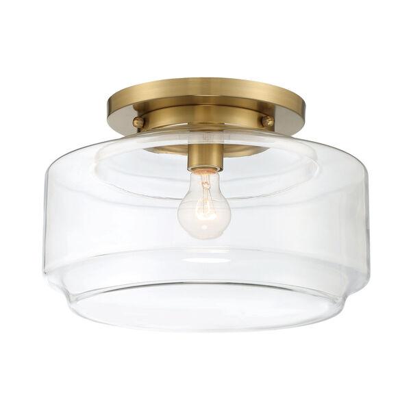 Peri Satin Brass 14-Inch One-Light Flushmount, image 2