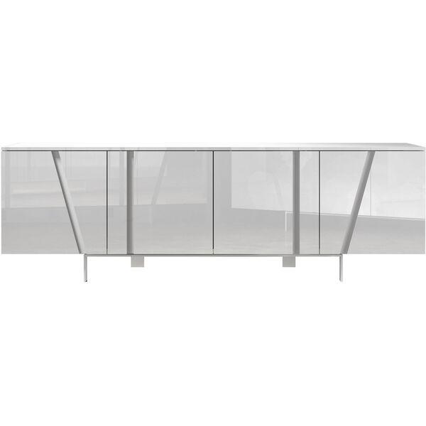 Mott Glossy White Sideboard, image 1