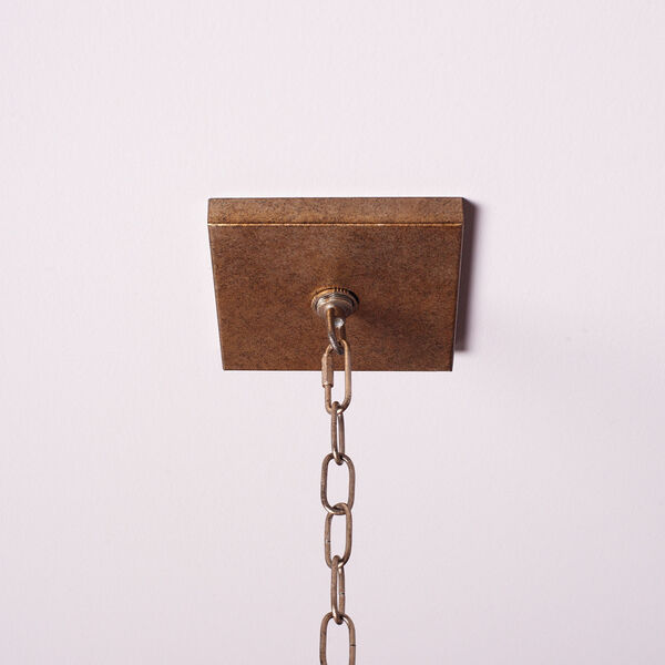 Antique Silver 12-Inch Four-Light Pendant, image 9