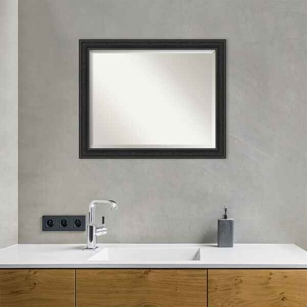 Shipwreck Black 32W X 26H-Inch Bathroom Vanity Wall Mirror, image 3