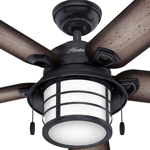 Key Biscayne Weathered Zinc 54-Inch Two-Light Fluorescent Adjustable Ceiling Fan, image 5