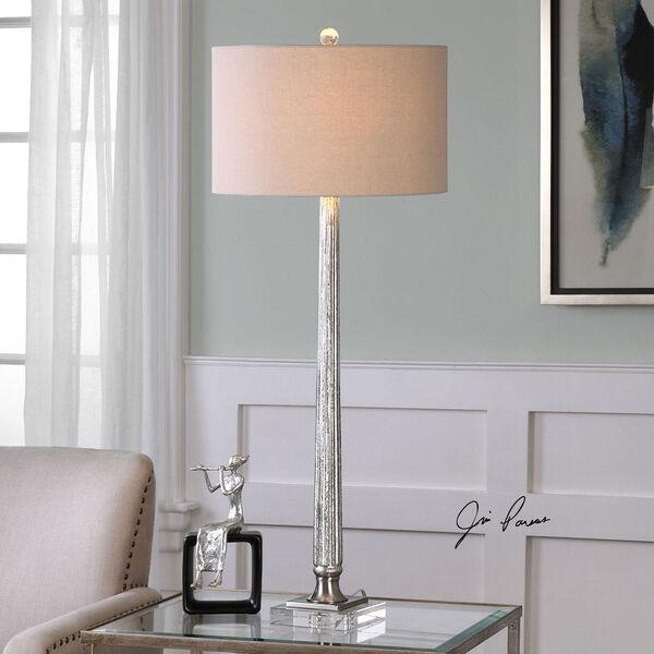 Fiona Ribbed Mercury Glass Lamp, image 2