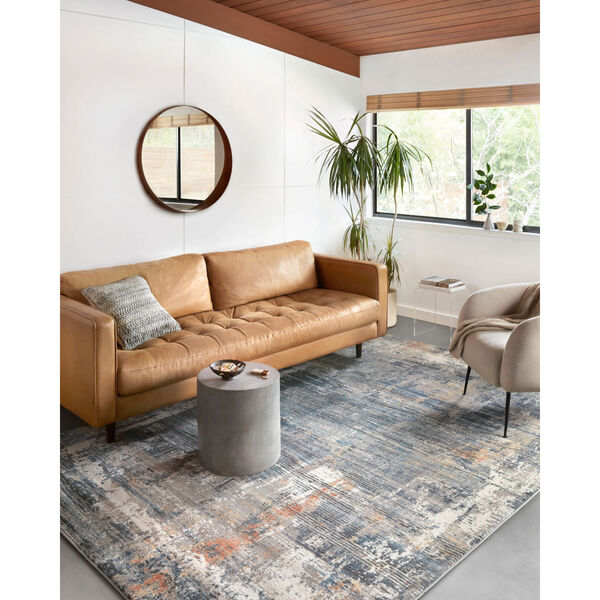 Maeve Slate and Apricot 9 Ft. 3 In. x 13 Ft. Area Rug, image 2