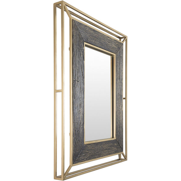 Allure Brown and Gold Wall Mirror, image 3